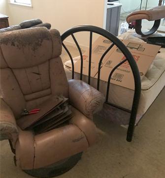 Removing Furniture during Trash Cleanup - Texas